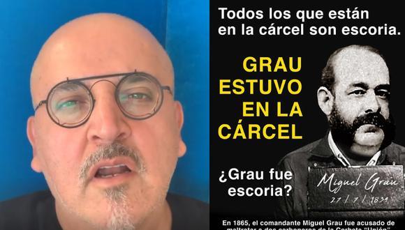 Beto Ortiz compara a Miguel Grau y César Vallejo con presos que piden ser liberados por pandemia. (Foto: Instagram)