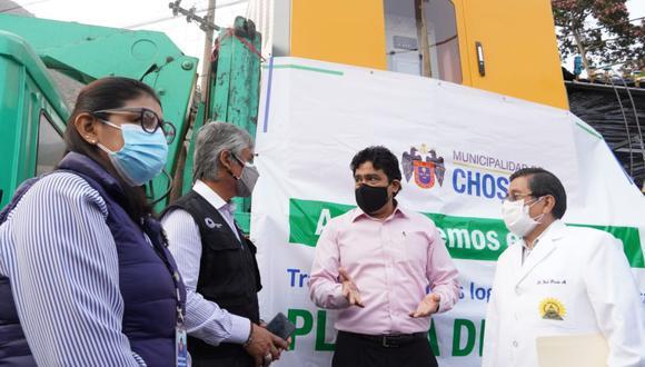 La planta de oxígeno fue instalada en el hospital José Agurto Tello de Chosica. (Foto: Minsa)