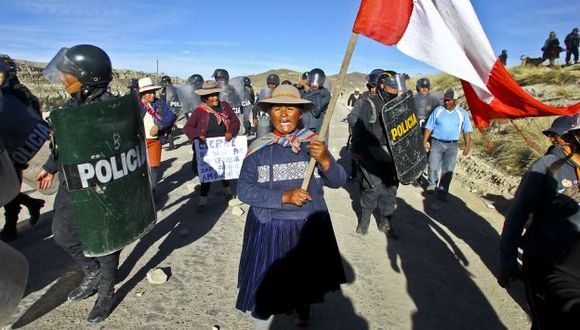 PARO CONTINÚA. La protesta cumplió seis días con movilizaciones y el bloqueo de las carreteras. (Sebastián Castañeda/USI)