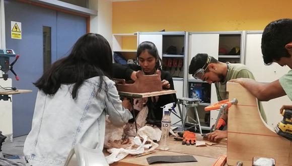 Estudiantes desarrollan casillero electrónico para aislar agentes contaminantes de ropa de personal de salud. (Foto: UPN)