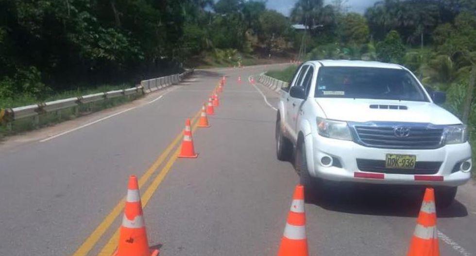 Se restableció tránsito en tramo Tarapoto - Yurimaguas. (Facebook/@IIRSANorte)