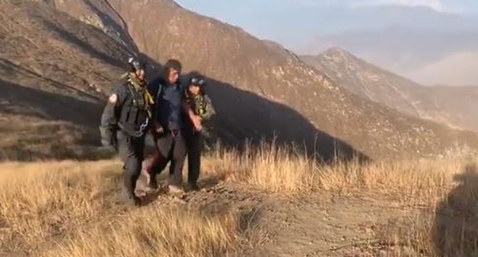 Rienzi Piero Reyes Romero (41) se extravió durante una caminata de trekking. (Captura)