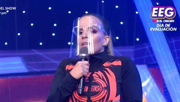 """Alejandra Baigorria reveló que tiene una lesión y no podrá competir en """"Esto es guerra"""". (Foto: Captura América Tv)."""