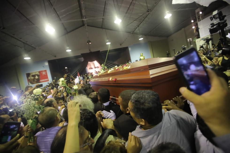 Cúpula aprista se despide así de los restos de Alan García. (Giancarlo Ávila)