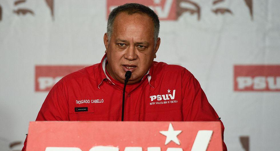"""Diosdado Cabello afirmó que preservar la vida de Evo Morales es """"lo importante"""". (Foto: AFP)"""