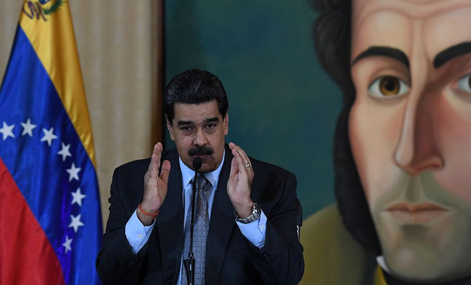 Nicolas Maduro, durante conferencia de prensa en Caracas, aseguró que si obtiene el financiamiento de la ONU logrará sacar a todos los venezolanos del Perú. (Foto: AFP)