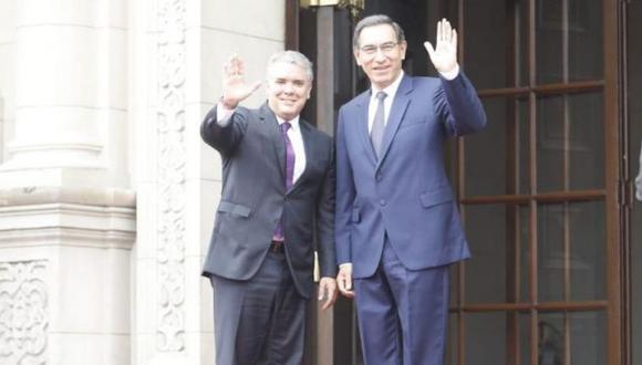 Luego del diálogo entre Vizcarra y Duque, se realizarán las reuniones bilaterales entre los ministros de Estados de ambos países. (Foto: GEC)
