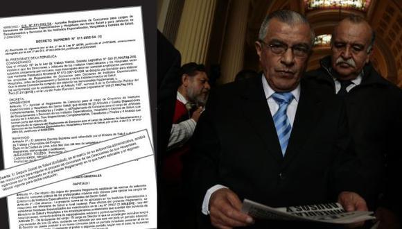 Álvaro Vidal otra vez en el ojo de la tormenta por concurso para directores de Essalud. (Rafael Cornejo)