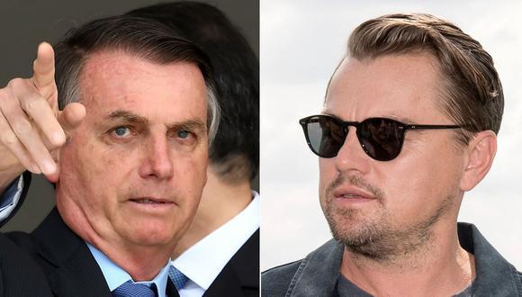 Jair Bolsonaro acusó a Leonardo DiCaprio de financiar incendios en la Amazonía, aunque sin pruebas. (Foto: AFP)