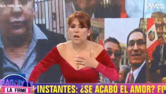 """Magaly Medina aseguró que su programa fue el primer en poner """"en jaque"""" al gobierno. (Foto: Captura de video)"""