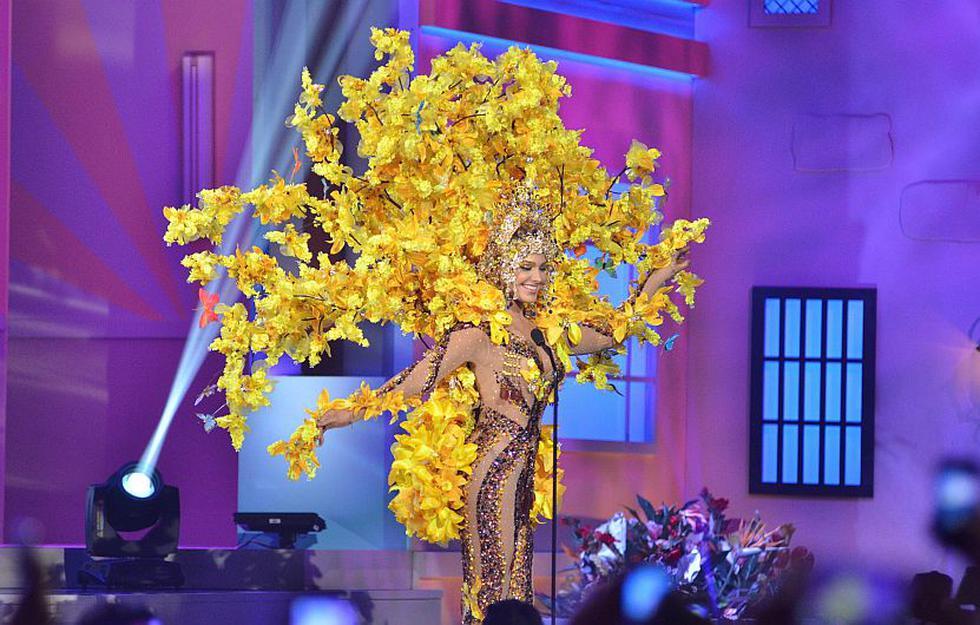 Miss Venezuela se ganó el aplauso en el concurso de Miss Universo. (EFE)