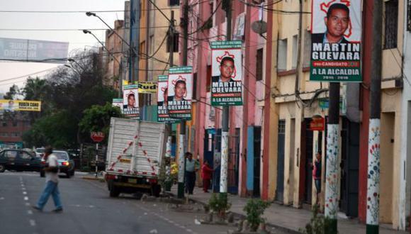 Propaganda electoral comienza a aparecer en el distrito. (Andina)
