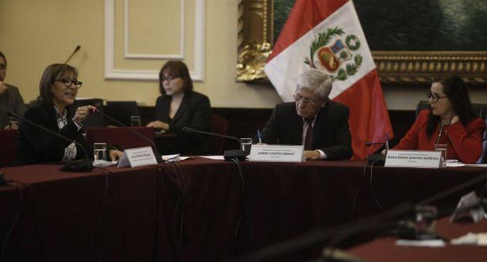 Julia Principe se presenta ante el Congreso. (Geraldo Caso)