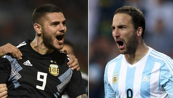 Batistuta prefiere a Mauro Icardi que a Gonzalo Higuaín en la Selección Argentina. (Foto: AFP/EFE)