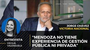 """Jorge Chávez de Victoria Nacional sobre Verónika Mendoza """"no tiene experiencia de gestión pública ni privada"""""""