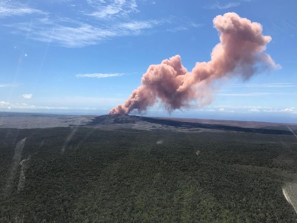 El volcán Sierra Negra, ubicado en las Islas Galápagos (Ecuador) entró en erupción este martes. (Getty/Referencial)