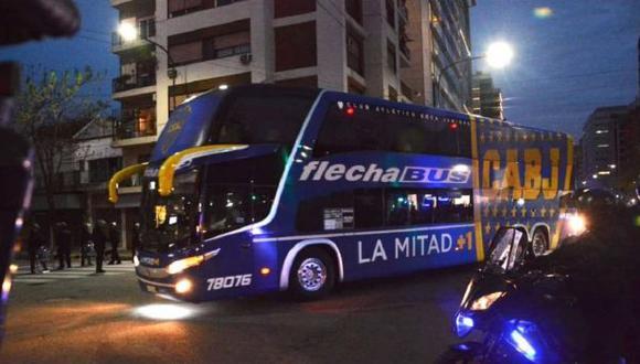 Boca Juniors llegó a la casa de River Plate minutos después de la 7:00 p.m. en Argentina. (Captura: ESPN)