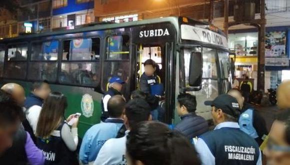 El operativo se ejecutó en la zona comercial de Magdalena. (Difusión)