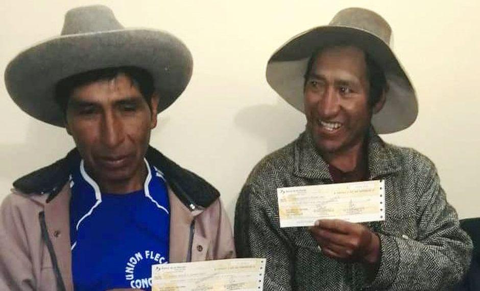 Pobladores recibieron depósito por la cesión de sus terrenos. (MTC)