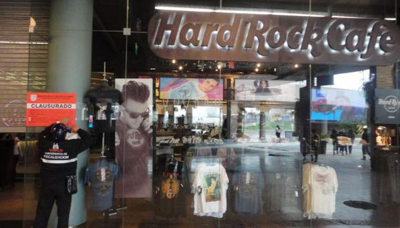 La clausura del Hard Rock Café puede durar de 1 a 30 días. (Difusión)
