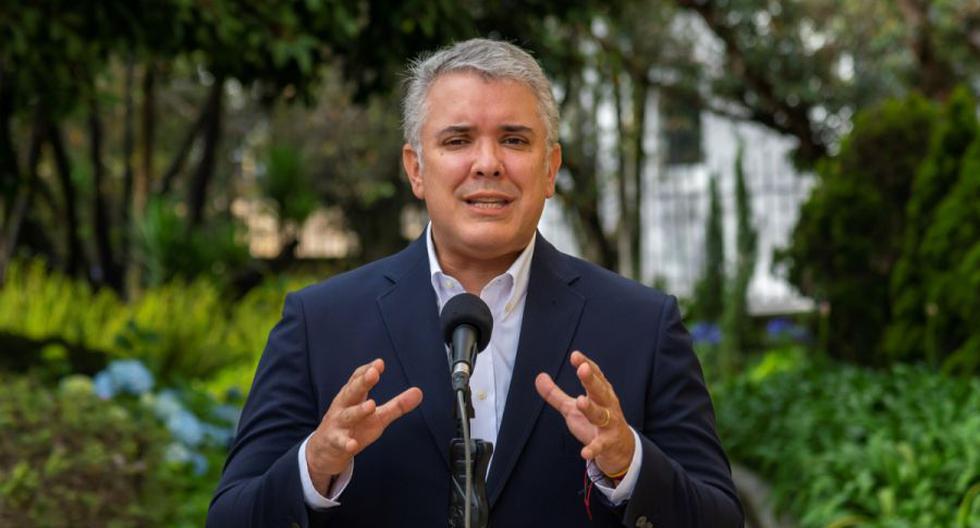 Imagen muestra al mandatario Iván Duque durante una alocución en Bogotá (Colombia). (EFE/ Presidencia de Colombia).