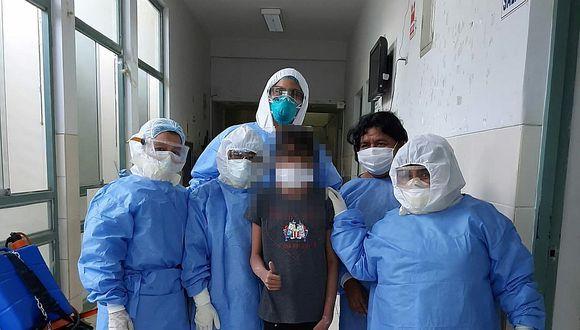 Piura. La menor con coronavirus, que estuvo conectada a un balón de oxígeno durante seis días, logró recuperarse. (Foto: Hospital Santa Rosa)