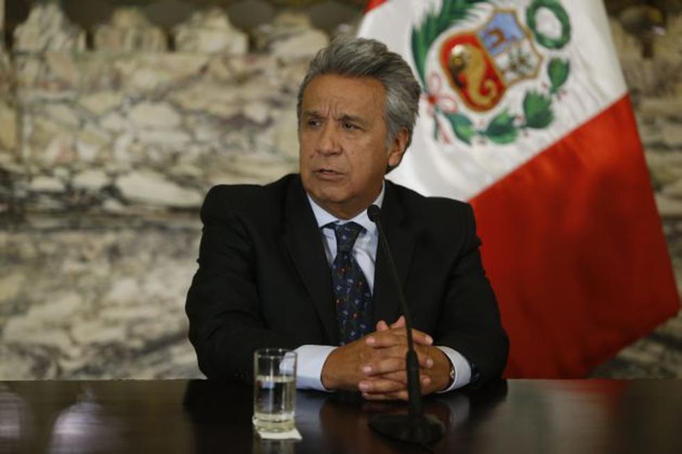 El jefe de Estado de Ecuador, Lenin Moreno, confirmó la muerte de los hombres de prensa. (Perú21)