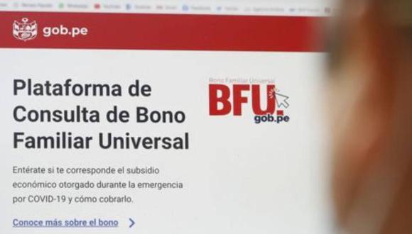 El Gobierno central indicó que los beneficiarios del Bono Familiar Universal podrán cobrarlo en el 2021 (Foto: Andina)