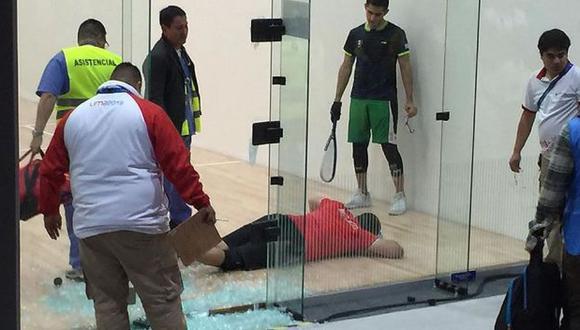 Mexicano sufrió un accidente en la final de raquetbol de Lima 2019. (Foto: Medio Tiempo)
