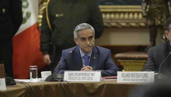 Duberlí Rodríguez renunció a la presidencia del Poder Judicial. (Perú21)