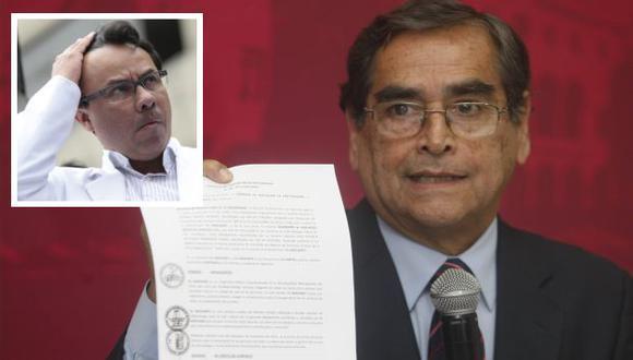 Óscar Ugarte y César Palomino enfrentados. (USI)