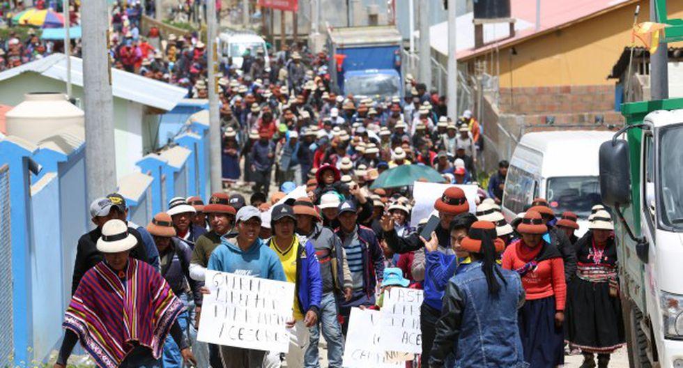 La comunidad de Fuerabamba insistirá en el pedido de liberación de sus asesores legales, para quienes el Poder Judicial dictó 36 meses de prisión preventiva. (Foto: GEC)