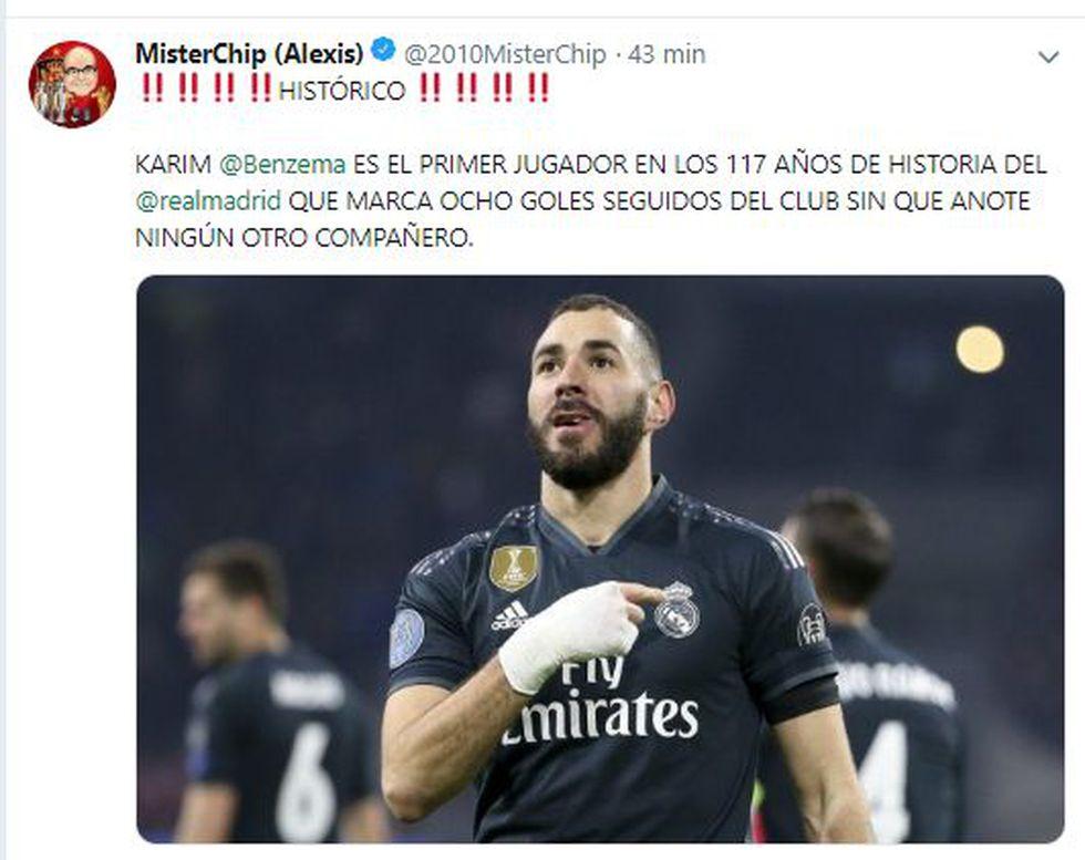 El récord de Karim Benzema en publicación de Mister Chip.