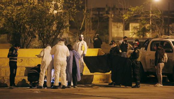 Asesinan a ciudadano venezolano  en loza deportiva ubicada en Villa El Salvador. Foto: César Grados/@photo.gec
