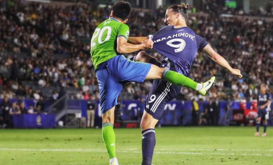Zlatan Ibrahimovic hizo que Galaxy le de vuelta al partido ante Seattle Sounders. (Foto: @Galaxy)