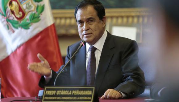 Fredy Otárola destaca rapidez con que se actuó en el caso Urtecho. (Perú21)