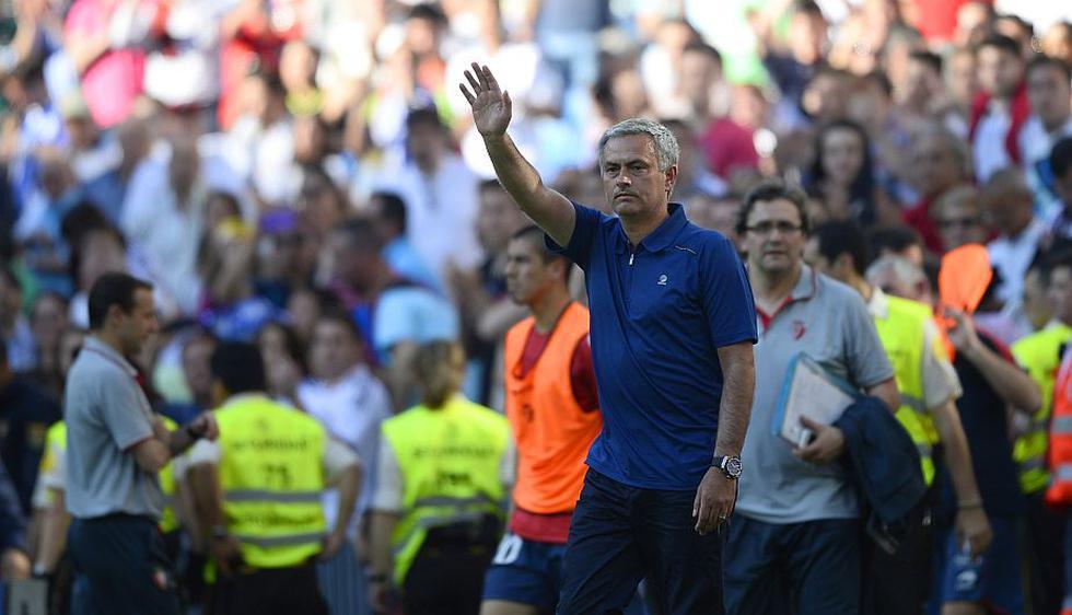 Mourinho se despide del Real Madrid con una mala temporada, en la que no ganó nada. (AFP)