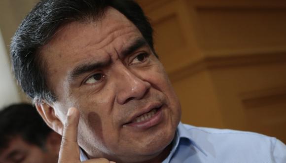 Javier Velásquez Quesquén dijo que no hay fiscalización. (César Fajardo)