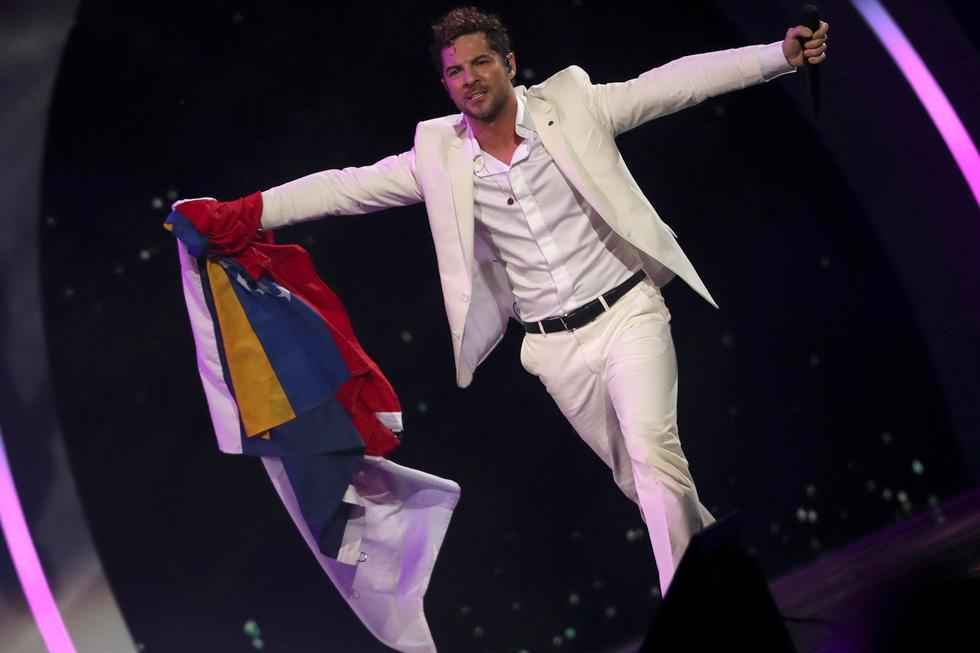 El cantante español David Bisbal durante su presentación en Viña del Mar 2019. (Foto: EFE)