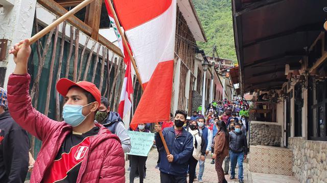 Machu Picchu entra a huelga indefinida con bloqueo de vía férrea hasta nuevo aviso (Foto: Juan Sequeiros)