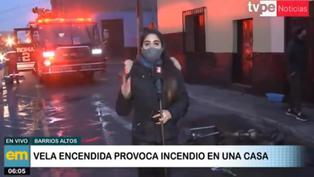 Vela encendida provoca incendio en una vivienda de Barrios Altos