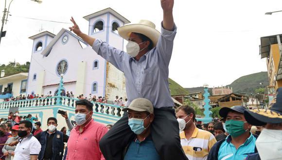 El candidato de Perú libre, Pedro Castillo, buscará llegar a la Presidencia en la segunda vuelta el próximo 6 de junio. (Foto: EFE/Francisco Vigo)