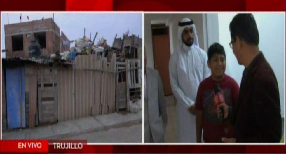 Trujillo: Empresario árabe muestra el interior de la casa que le regaló al niño (AméricaTV)