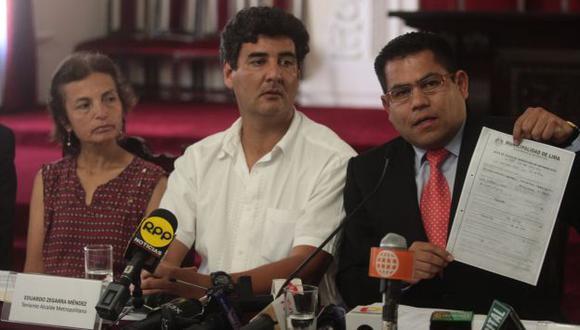Gabriel Prado y Eduardo Zegarra anunciaron la inspección de todas las galería de Mesa Redonda. (Andina)