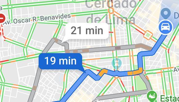 ¿Qué es lo que significa cada rayita que aparece en Google Maps? Conoce todo lo que hay en la aplicación. (Foto: Google)