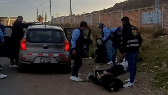 Puno: los intervenidos habrían planificado realizar operativos policiales, haciéndose pasar por policías del grupo Terna. (Foto: PNP)