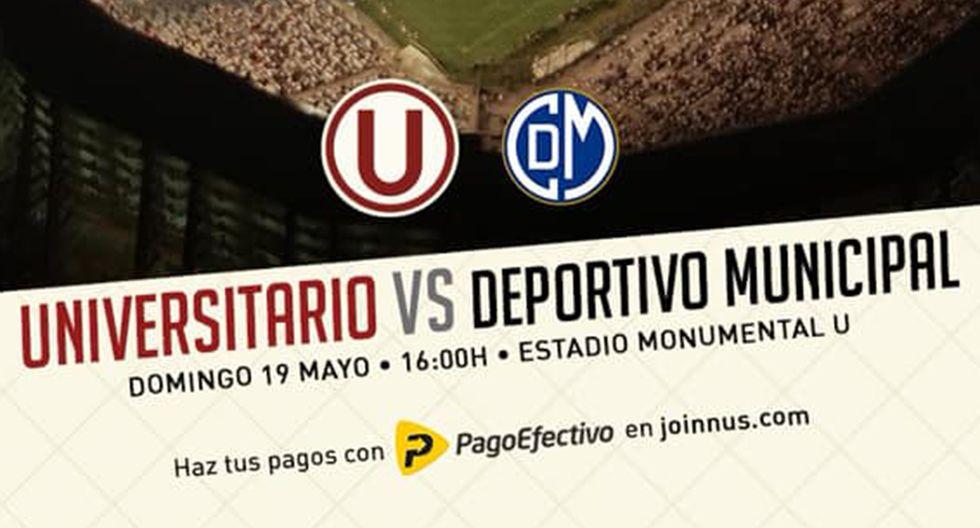 Universitario de Deportes busca cortar su mala racha ante Deportivo Municipal, este domingo, en el Monumental. (Foto: Universitario de Deportes)