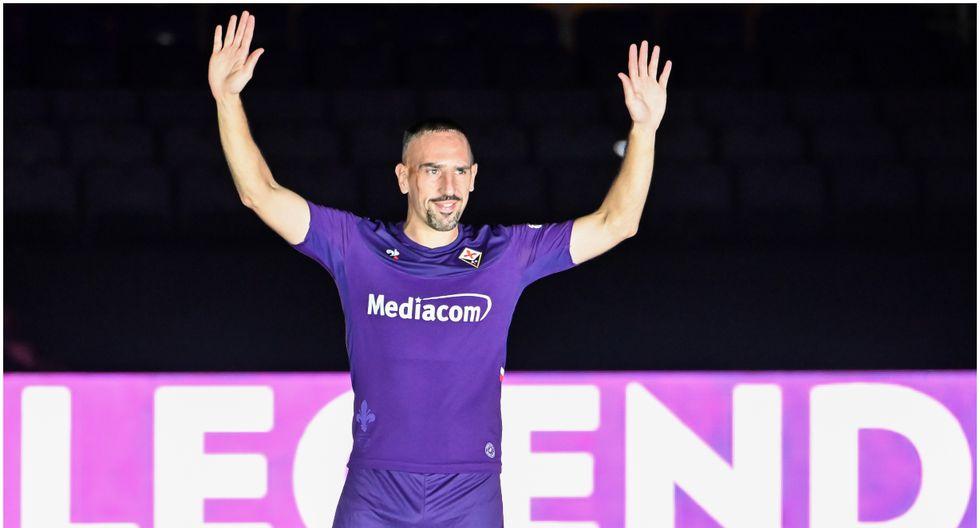 Edad 36: Franck Ribéry juega en Fiorentina y está valorizado en 4,3 millones de dólares (Foto AFP)
