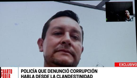 Policía Romel Vásquez Olano se encuentra en la clandestinidad. (Cuarto Poder)