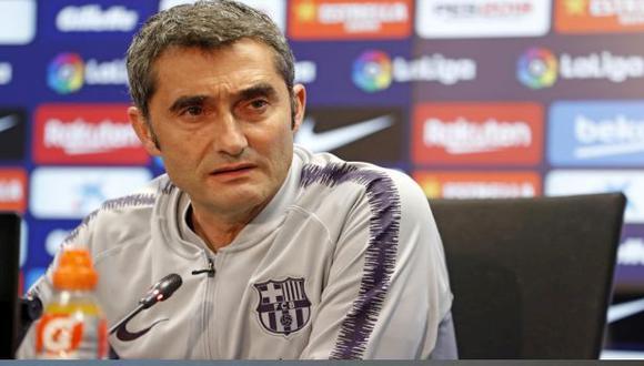 Ernesto Valverde es entrenador de Barcelona desde septiembre del 2017. (Foto: FC Barcelona)